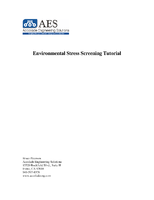 Environmental Stress Screening Tutorial