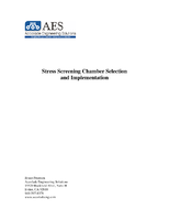 Stress Screening Chamber Selection and Implementation