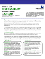 What Is Our Responsibility When It Comes to Green?