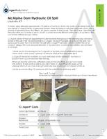 McAlpine Dam Hydraulic Oil Spill