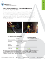 I 264 Overturned Truck - Diesel Fuel Removal