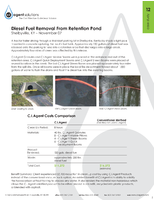 Diesel Fuel Removal from Retention Pond
