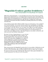 Magnalube-G Reduces Gearbox Breakdowns