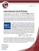 International Cord Ratings