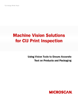 Machine Vision Solutions for CIJ Print Inspection: Using Vision Tools to Ensure Accurate Text on Products and Packaging.