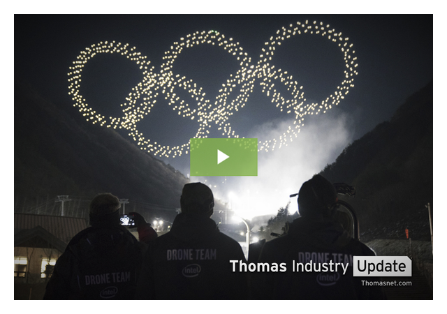 Shooting Star Drones Set World Record at Olympics