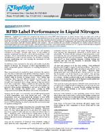 RFID Label Performance in Liquid Nitrogen