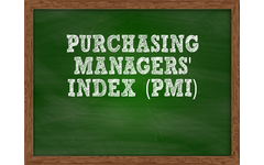 Purchasing Managers' Index written on a Chalkboard