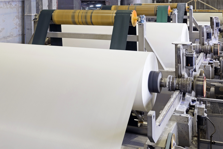 Paper production in a paper and pulp mill.