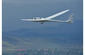 Perlan glider aircraft in flight