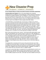 Are You Prepared? What You Need to Know About Emergency and Disaster Preparedness