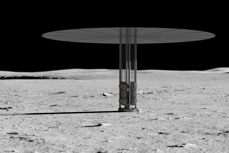 Concept of new fission power system on the lunar surface.