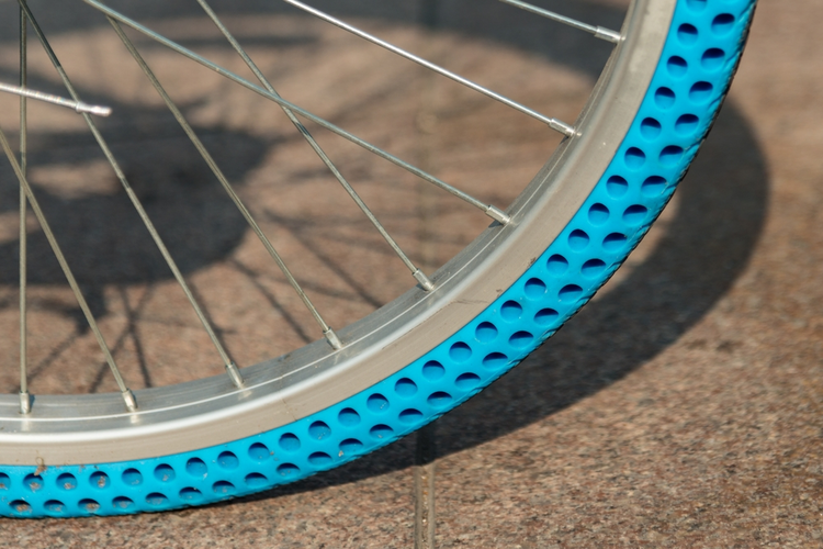 Airless bike tire.