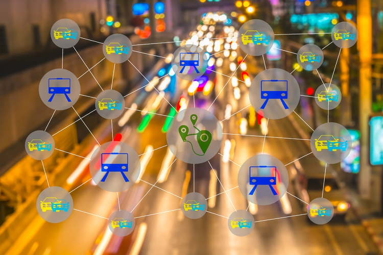 Smart transportation concept: The sharing economy.