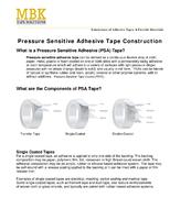 Pressure Sensitive Adhesive Tape Construction