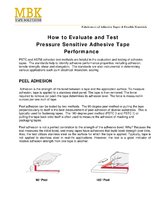 How to Evaluate and Test Pressure Sensitive Adhesive Tape Performance