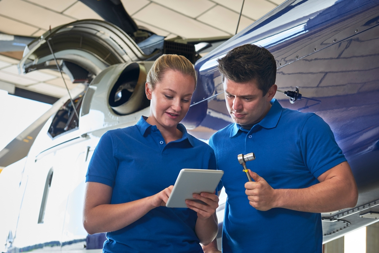 Aerospace engineer and apprentice.