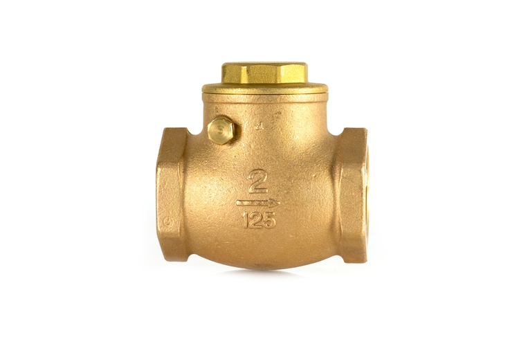 Check valve on white background.