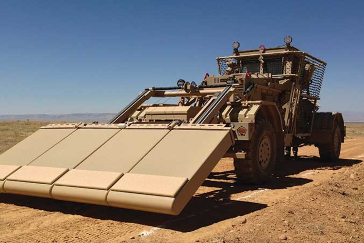 Husky Mounted Detection System in the desert