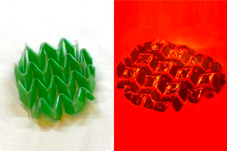 Shape-Shifting Material Changes with Heat and Light